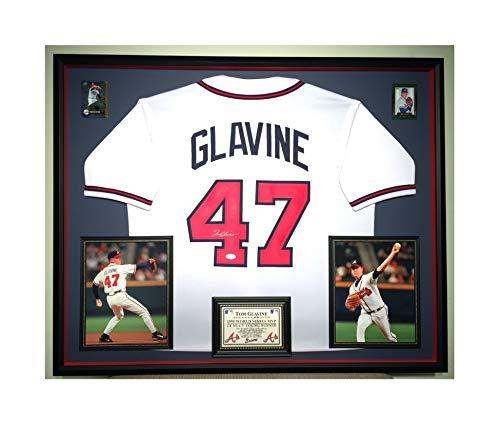 (Premium Framed Tom Glavine Autographed/Signed Atlanta Braves Jersey - JSA COA)