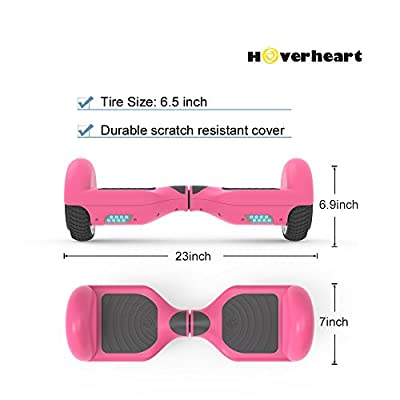 """Hoverboard Flash Wheel Two-Wheel Self Balancing Electric Scooter 6.5"""" UL 2272 Certified (Pink)"""