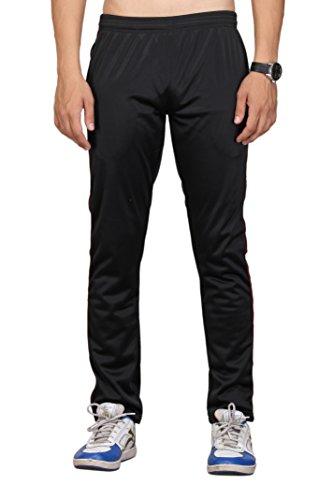 VEGO Men's Pencilfit Super Poly Track Pants