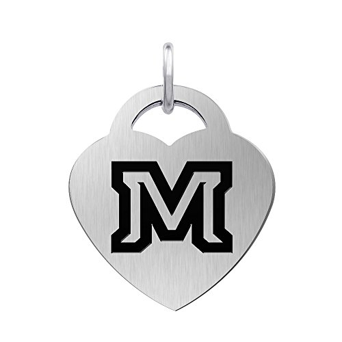 (Montana State University Bobcats Laser Engraved Stainless Steel Heart Charm)