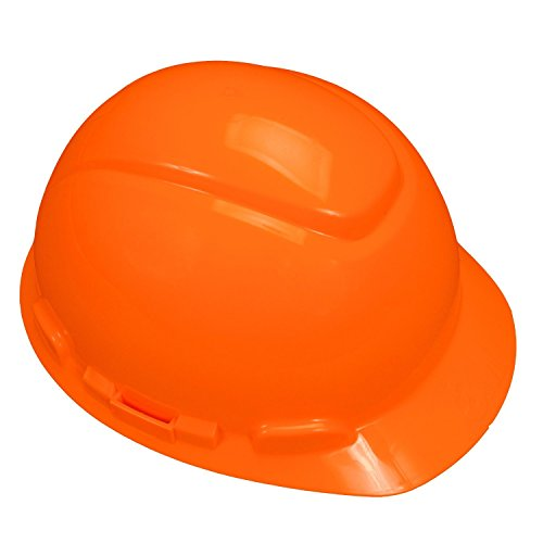 3M Hard Hat, Orange 4-Point Pinlock Suspension H-706P (Pack of 1) from 3M Personal Protective Equipment
