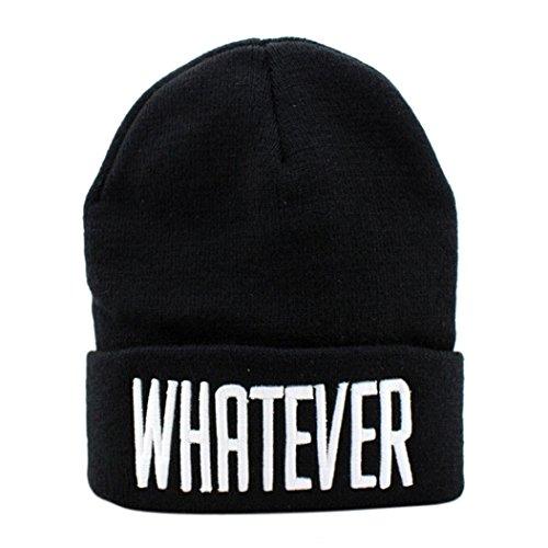 (Clearance!! Winter Beanie Cap Slouchy Knit Skull Hat for Women Men (Black))