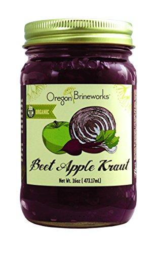 Beet Apple Sauerkraut, Raw, Fermented, Probiotic, Organic, 16 Oz (1 Pack)
