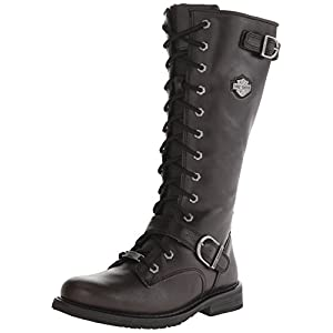 Harley-Davidson Women's Jill Motorcycle Boot, Black, 7.5 M US
