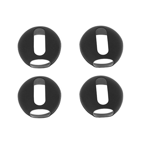 - Stebcece 2 Pairs Super Thin Earbud Covers Eartips Silicone Replacement for Apple AirPod, Various Colors to Choose (Black)