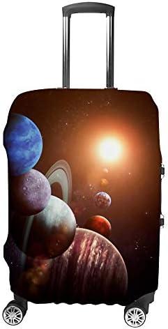 スーツケースカバー トラベルケース 荷物カバー 弾性素材 傷を防ぐ ほこりや汚れを防ぐ 個性 出張 男性と女性太陽系惑星