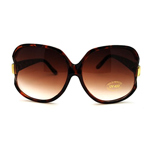 Womens Extra Oversized Round Designer Fashion Exposed Lens Butterfly Sunglasses - Womens Sunglasses Big