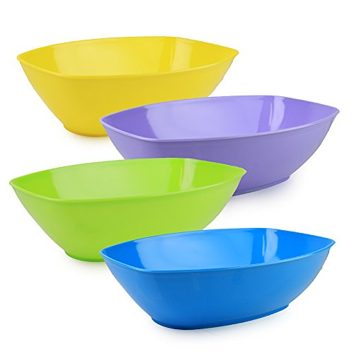 Set Plastic Serving Assorted Vibrant