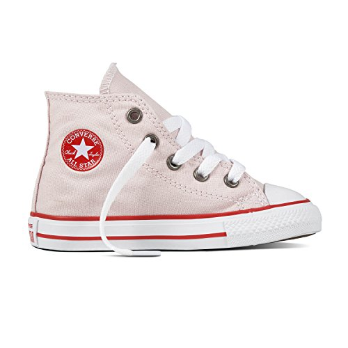 Converse Toddler's Chuck Taylor All Star Casual Shoes, Barely Rose/Enamel Red/White,5C