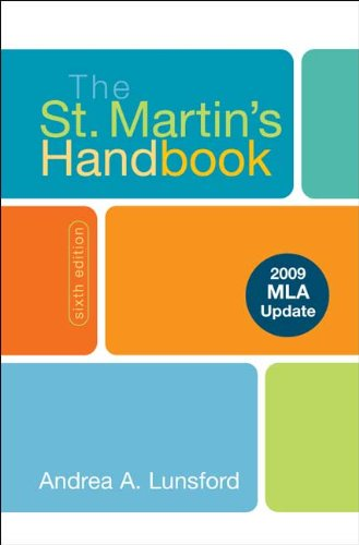The St. Martin's Handbook: 2009 Mla Update