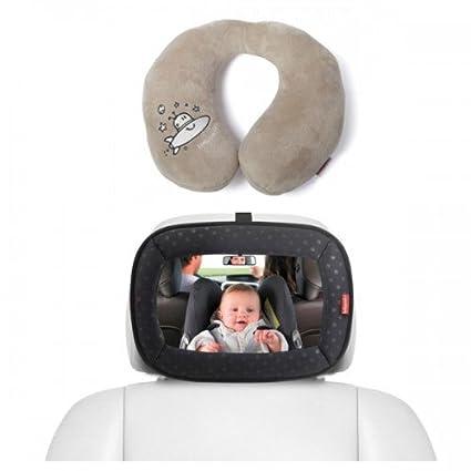 Espejo trasero bebe + Cojin cuello de Babypack