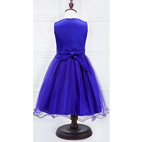 Dress Princess Dresses Sequin Dresses Party Lihaer Wedding Tutu Dark Fashion Lace Sleeveless Blue Formal Girls wqSSA