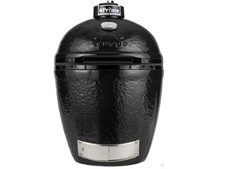 Primo Grills 771 Kamado Round Black Ceramic Grill, Includes Ash Tool and Grill Lifter (Thermometers Primo Grill)