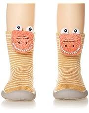Childrens Kids Toddler Non-Skid Indoor Floor Winter Warm Slipper Baby Boy Girls Animal Breathable Cotton Outdoor Shoes Socks