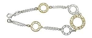Hobra-correa de oro y plata 925 macizo - pulsera de plata - alta moda silberkette