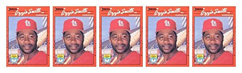 (5) 1990 Donruss Learning Series #9 Ozzie Smith Baseball Card Lot Cardinals