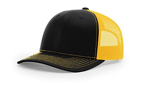 Richardson Structured Classic Trucker Snapback 112 Black/Gold