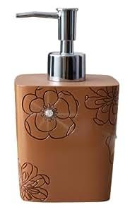 Ridder 22160509 Diamond - Dispensador de jabón líquido (decorado con brillantes), color marrón