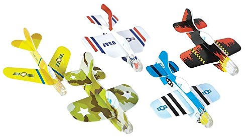 Foam Glider Plane Toy Set - 5 Inch, Assorted Pack of 72 - For Parties, Kids, Decoration, Gifts, Outdoors, and Other Events - Kidsco