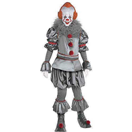 It A Party Halloween Costumes (Party City It Chapter Two Tattered Pennywise Costume for Adults, Standard Size, Includes a Clown Suit, Mask, and)