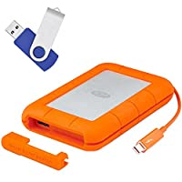 LaCie Rugged RAID Thunderbolt & USB 3.0 Mobile Hard Drive 4TB (LAC9000601) with Flash Transfer Kit includes, Extreme Speed 16GB USB 2.0 Flash Drive