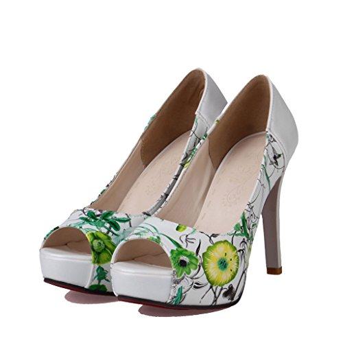 Enmayer Scarpe Da Donna Classiche Con Tacco Alto A Punta Verde E Scarpe Col Tacco Alto