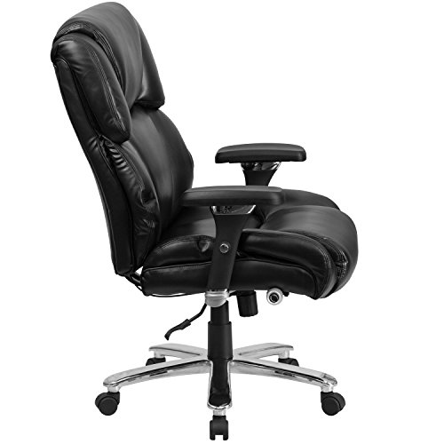 Flash Furniture HERCULES Series 24/7 Intensive Use Big & Tall 400 lb. Rated Black Leather Executive Swivel Chair with Lumbar Knob by Flash Furniture (Image #1)'
