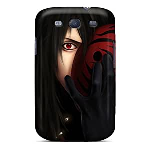Galaxy S3 Naruto Shippuden Akatsuki Sharingan Masks Tobi Print High Quality Tpu Gel Frame Case Cover