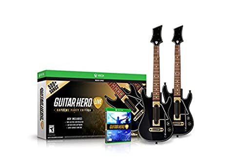 Guitar Hero Live Supreme Party Edition 2 Pack Bundle - Xbox One (Music Videos For Party)