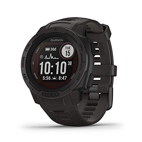 Garmin Instinct Solar Graphite Carbon Watch – Black (No-Cost EMI Available)