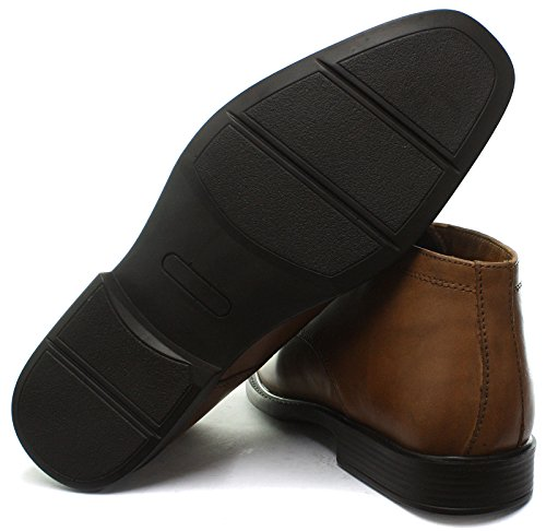 Burocrazia Wexford Mens Formale Stivali Chukka Tan