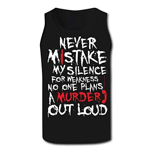 Murder Call Men's Tank Tops 3D Printed Sleeveless T Shirts Workout Fitness Tank Top for Men