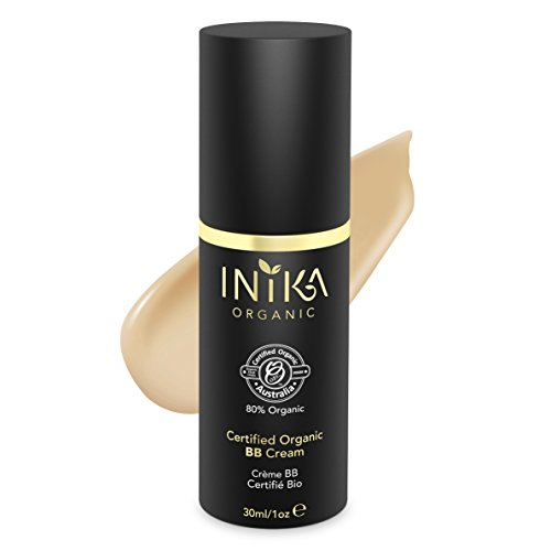 Prickly Pear Honey - Inika Certified Organic BB Cream, Natural 3 in 1 Silky Primer Moisturizer Foundation, All Natural Make-Up, Hypoallergenic, Dermatologist Tested, 1 oz (30ml) (Honey)