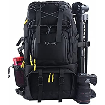 G-raphy Camera Backpack Bag Hiking Travel Backpack for all DSLR SLR Cameras , Laptops , Tripods and Accessories (Black)