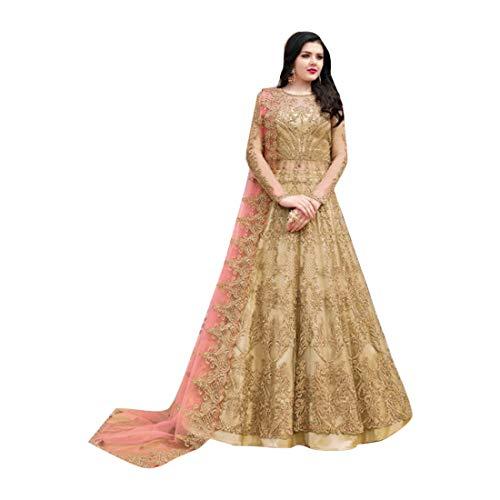 - Amber Indian Bollywood Evening Cocktail Net Anarkali Salwar Skirt style Suit Abaya Women Eid dress Semi-stitch 7942