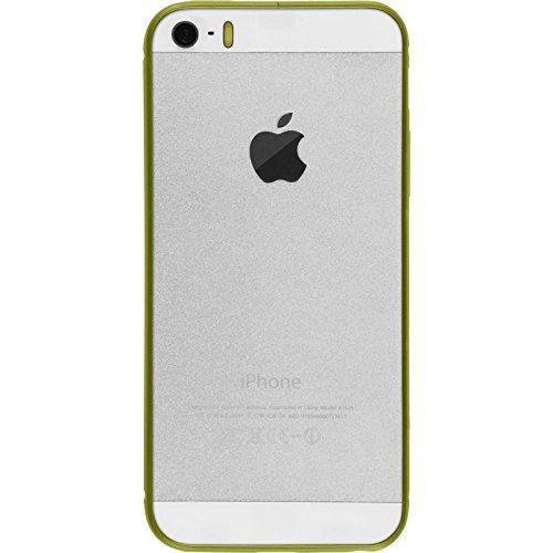 Alu Frame für Apple iPhone 5 / 5s / SE - grün - Cover PhoneNatic Schutzhülle + 2 Schutzfolien
