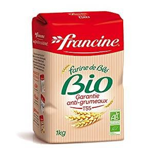 (Francine Farine de Ble Bio - French All Purpose Organic Wheat Flour - 2.2 lbs (Pack of 6))