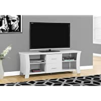 Monarch I 2684 TV Stand with 2 Drawers, 60, White