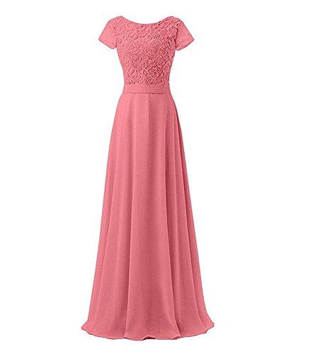 KA Beauty Damen Kleid Korallenrot Kj4M1