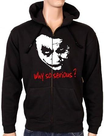 Coole-Fun-T-Shirts Sweatshirtjacke Why So Serious Joker Zipper Hoodie mit  Kapuze, Sweat-Shirt Homme  Amazon.fr  Vêtements et accessoires 2a3e389b6eda