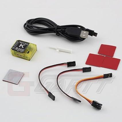 41XgE5 861L._SX425_ amazon com 3axis gyro kbar v2 5 3 4pro k8 flybarless mini vbar wiring diagram at aneh.co