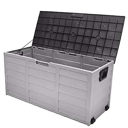 Awesome SKEMIDEX   All Weather Uv Pool Deck Box Storage Shed Bin Backyard Patio  Porch