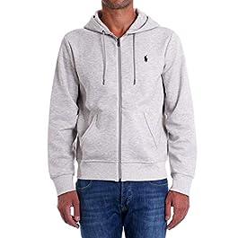 Polo Ralph Lauren Mod. 710652313 Sweatshirt Hoodie Performance Custom Fit Man Grey
