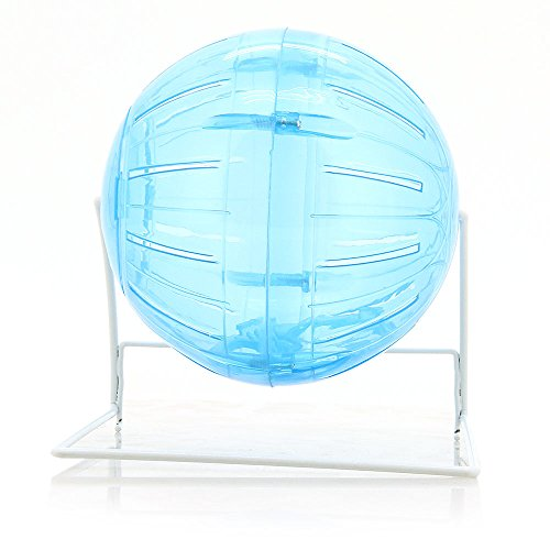 Guinea pig exercise ball amazon facilla plastic exercise rolling ball roll about toy with stand for rat hamster mouse sciox Image collections