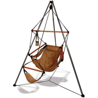 Tripod Stand Hammock Chair Combo Color: Natural Tan, Dowels: - Tripod Stand Hammock
