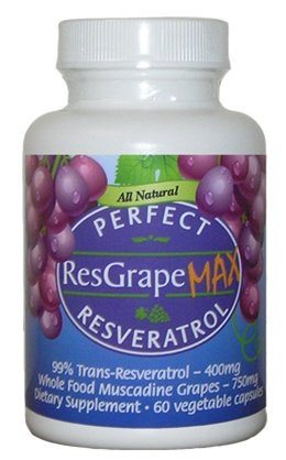Perfect ResGrape Max 60 vegetable capsules per bottlePack of 3 99 Trans-Resveratrol amp Muscadine Grape Anti-Aging Supplement amp Potent Antioxidant Discount