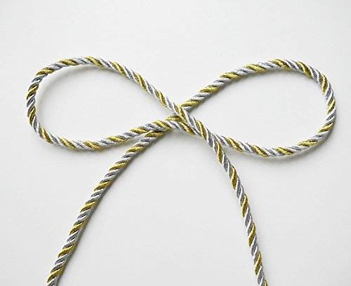 Shiny Twist Cord - DIYcraft Gold Silver Shiny Twist Cord Choker Thread Twine String Rope Piping Supplies Chain 3 Yards