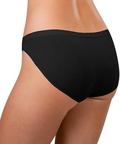Knock out! Women's Cotton Bikini Large Black