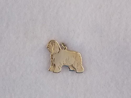 (14k Yellow Gold Bearded Collie Dog)