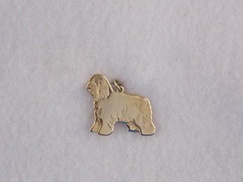 14k Yellow Gold Bearded Collie Dog Charm